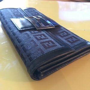 Fendi Zucca FF Long Wallet